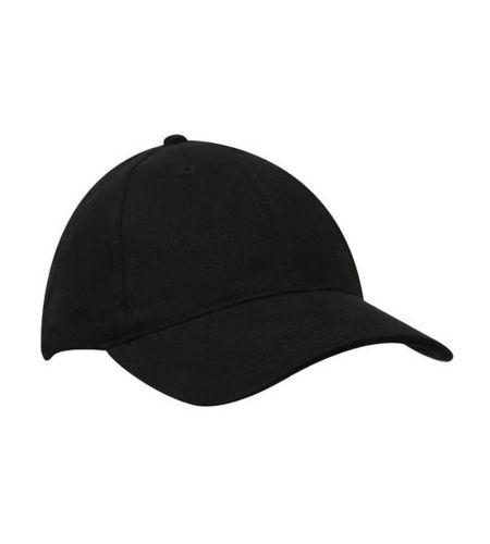 BRUSHED COTTON 6 PANEL CAP