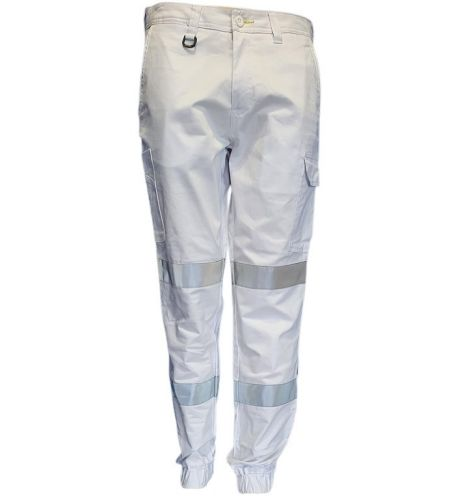 BISLEY STRETCH CUFFED CARGO PANTS WITH REFLECTIVE TAPE