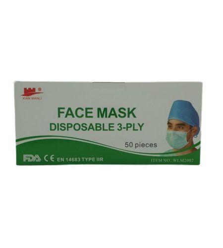 SINGLE USE FACE MASK 50 BOX