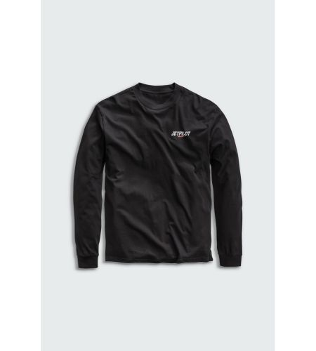 JET PILOT FUELED BY FRIDAY PRINTED LONG SLEEVE TEE SHIRT